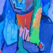 People art,Non-representational art,Modern  art,acrylic painting,Abstract Figure Studio XIX