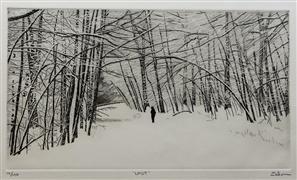 Landscape art,People art,Representational art,printmaking,Lost