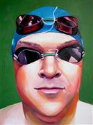 People art,Pop art,Sports art,Representational art,oil painting,Man Aquatics