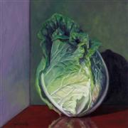 Still Life art,Cuisine art,Realism art,Representational art,oil painting,Head Collection, Napa Cabbage