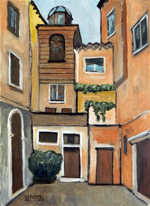 Original art for sale at UGallery.com | The Venetian Ghetto by ROBERT  HOLEWINSKI | $1,225 |  | 23' h x 17' w | ..\art\oil-painting-The-Venetian-Ghetto