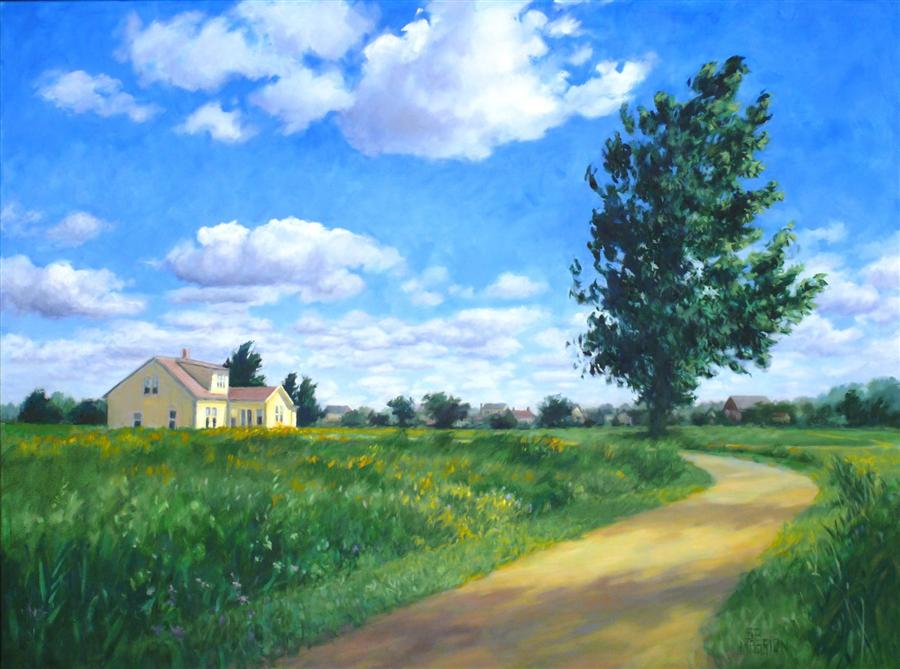 Original art for sale at UGallery.com | Prairie Crossing by SUZANNE MASSION | $1,500 |  | 30' h x 40' w | ..\art\oil-painting-Prairie-Crossing