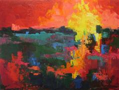 Abstract art,Expressionism art,Non-representational art,oil painting,Delta Dawn 3
