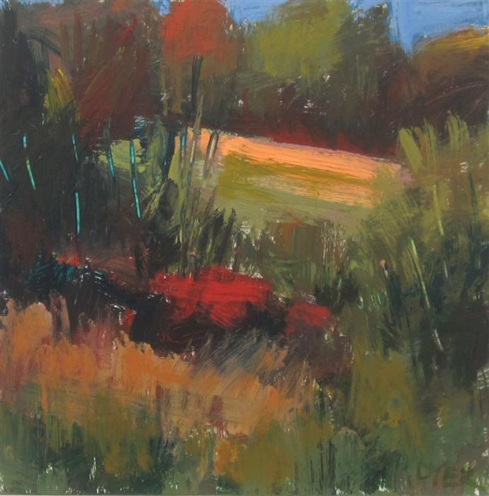 Original art for sale at UGallery.com | Harriman Glade by JANET DYER | $525 |  | 12' h x 12' w | ..\art\acrylic-painting-Harriman-Glade