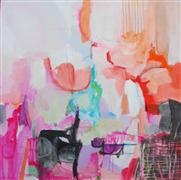 Abstract art,Non-representational art,mixed media artwork,The Conversation