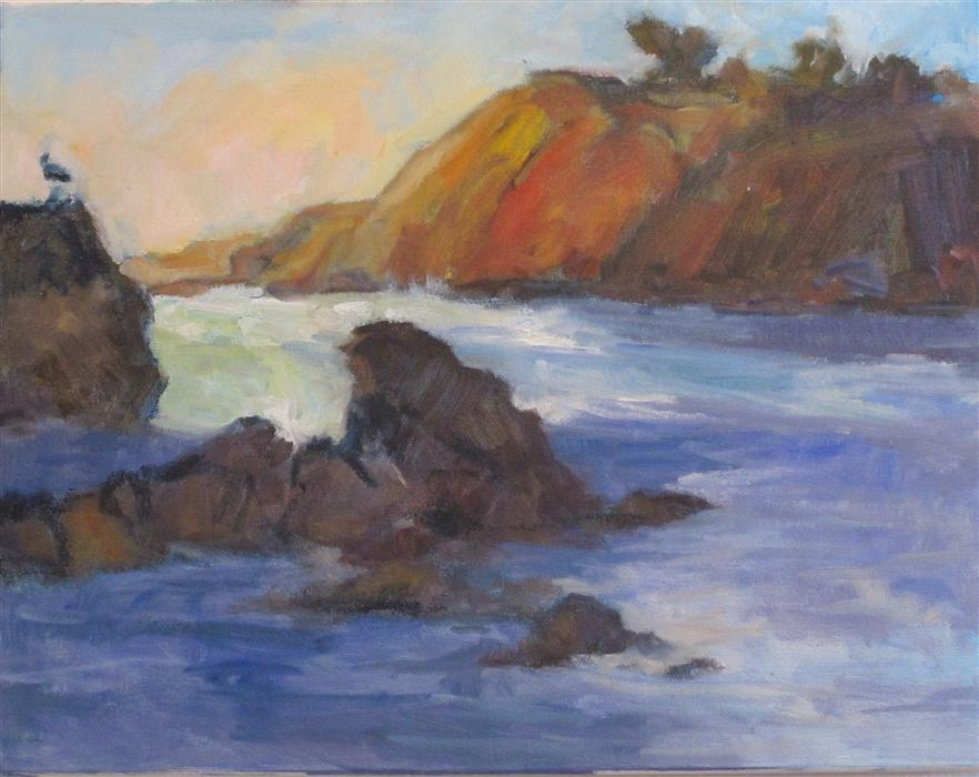 Original art for sale at UGallery.com | Cove by ANITA L. WEST | $925 | Oil painting | 14' h x 18' w | ..\art\oil-painting-Cove