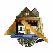 Architecture art,Surrealism art,Representational art,photography,Sketches for a Small House (2)
