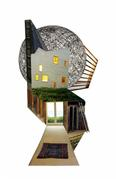 Architecture art,Surrealism art,Representational art,photography,Sketches for a Small House (3)