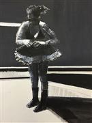 People art,Representational art,Modern  art,mixed media artwork,Waiting to Dance