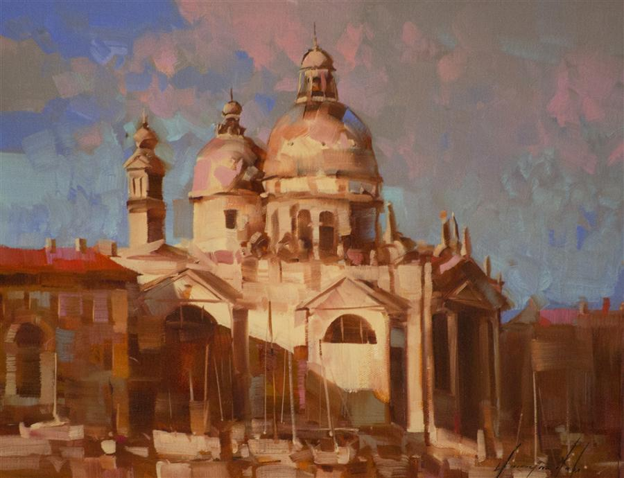 Original art for sale at UGallery.com | Venice by VAHE YEREMYAN | $425 |  | 11' h x 14' w | ..\art\oil-painting-Venice-35676