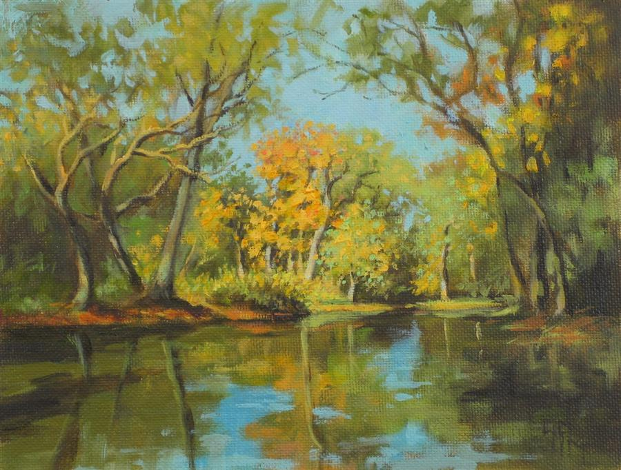 Original art for sale at UGallery.com | Quiet River by SUZANNE MASSION | $375 |  | 6' h x 8' w | ..\art\oil-painting-Quiet-River