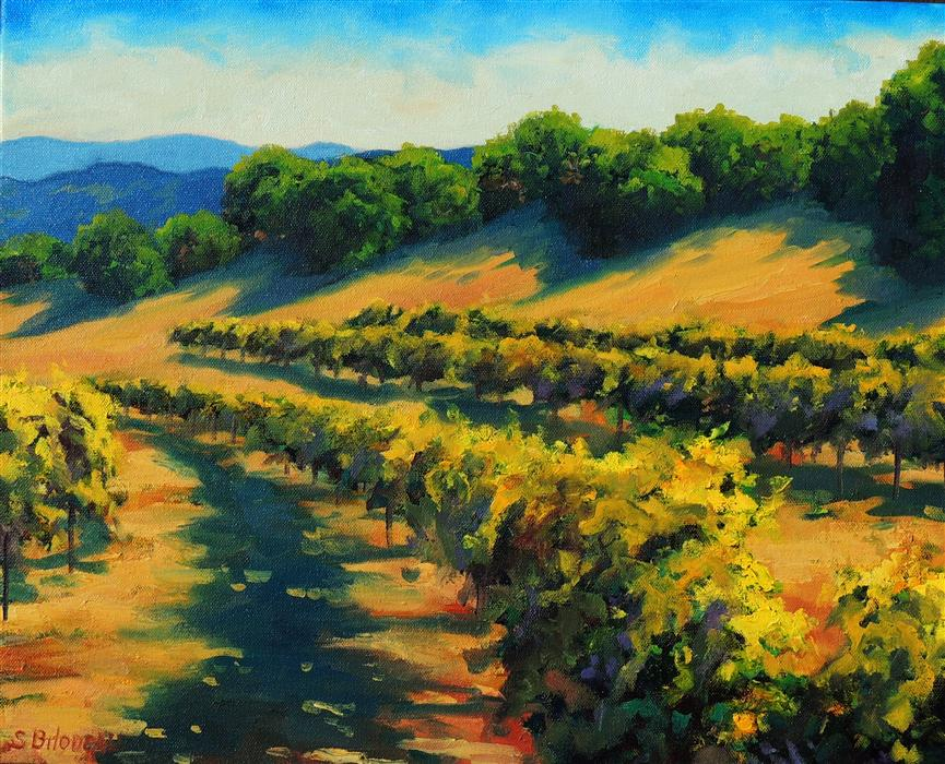 Original art for sale at UGallery.com | Six Sigma Vineyards by STEVEN GUY BILODEAU | $775 |  | 16' h x 20' w | ..\art\oil-painting-Six-Sigma-Vineyards