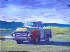 Impressionism art,Pop art,Representational art,oil painting,Storm Truck