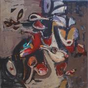 Abstract art,Non-representational art,Modern  art,acrylic painting,Dancing Petals