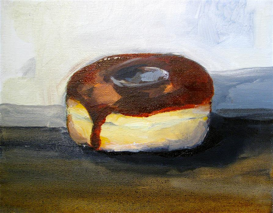 Original art for sale at UGallery.com | Chocolate Glazed by MALIA PETTIT | $275 |  | 8' h x 10' w | ..\art\oil-painting-Chocolate-Glazed