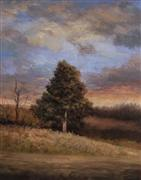 Landscape art,Nature art,Classical art,Representational art,oil painting,Last Light