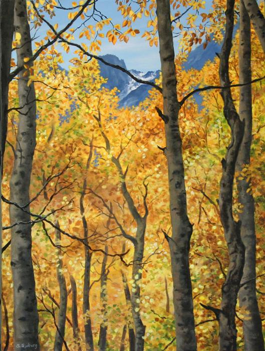 Original art for sale at UGallery.com | Sierra Gold by SUSAN SJOBERG | $1,825 |  | 24' h x 18' w | ..\art\acrylic-painting-Sierra-Gold