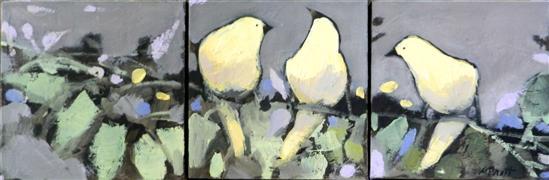 Animals art,Nature art,Representational art,oil painting,Happy and Yellow
