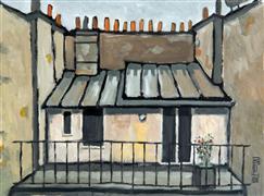 Architecture art,Representational art,Modern  art,oil painting,My Apartment in Paris