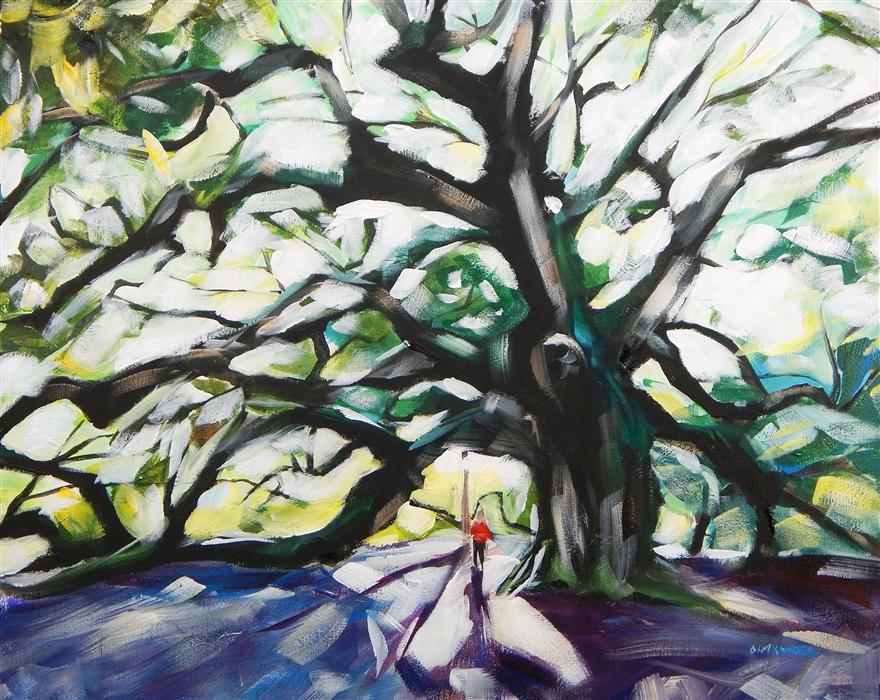 Original art for sale at UGallery.com | Angel Oak by CHRIS WAGNER | $1,100 |  | 24' h x 30' w | ..\art\acrylic-painting-Angel-Oak