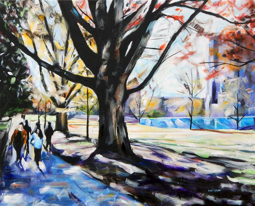 Original art for sale at UGallery.com | West Campus by CHRIS WAGNER | $3,500 | Acrylic painting | 48' h x 60' w | ..\art\acrylic-painting-West-Campus
