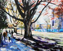 Nature art,People art,Representational art,acrylic painting,West Campus