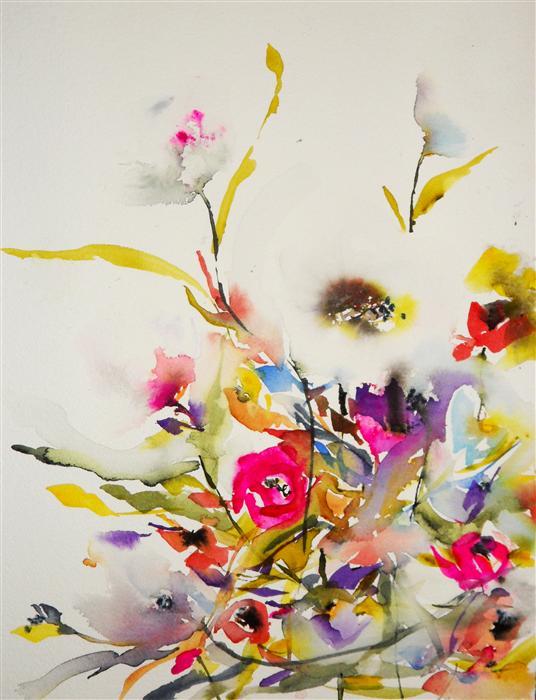 Original Art For Sale At UGallery.com | Gardenia XVIII By KARIN JOHANNESSON  | $375