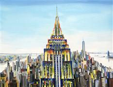 Architecture art,Travel art,Representational art,Modern  art,acrylic painting,Empire