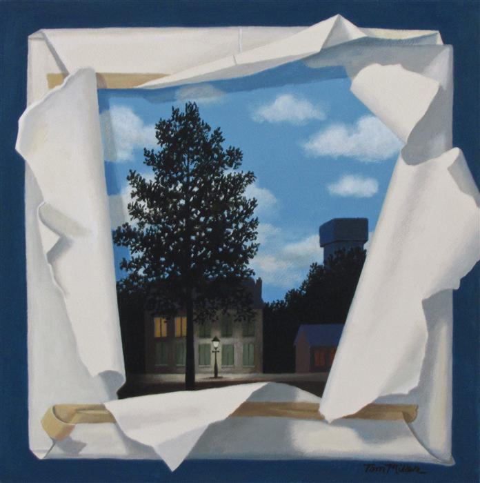 Original art for sale at UGallery.com | Magritte Revealed by TOM MILLER | $335 |  | 16' h x 16' w | ..\art\acrylic-painting-Magritte-Revealed