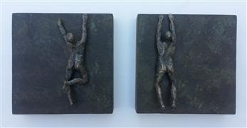 Nudes art,Representational art,Modern  art,sculpture,Climbers on Square Bases - U46