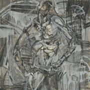 Expressionism art,People art,Non-representational art,oil painting,Selfie (Male Torso)