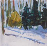 Impressionism art,Nature art,Representational art,acrylic painting,Chartreuse Bush