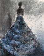 People art,Surrealism art,Fashion art,Representational art,oil painting,Blue Shadow