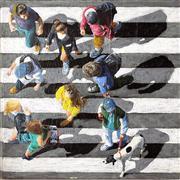 People art,Pop art,Travel art,Realism art,Representational art,acrylic painting,Pedestrians 2013-37