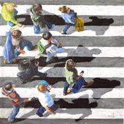 People art,Pop art,Travel art,Realism art,Representational art,acrylic painting,Pedestrians 2013-38