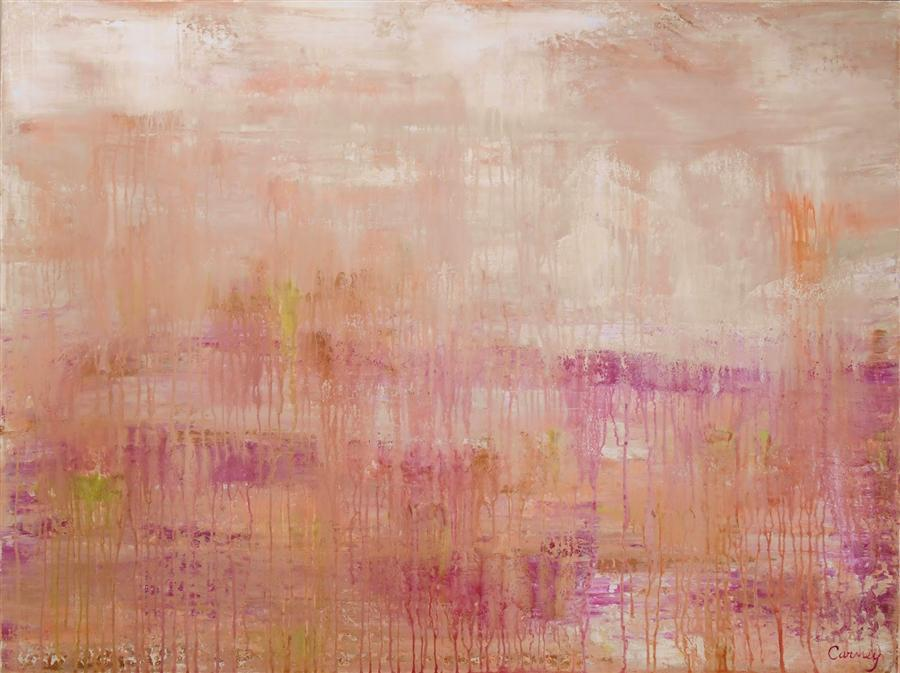 Original art for sale at UGallery.com | Coral Blush by LISA CARNEY | $1,795 | Acrylic painting | 36' h x 48' w | ..\art\acrylic-painting-Coral-Blush