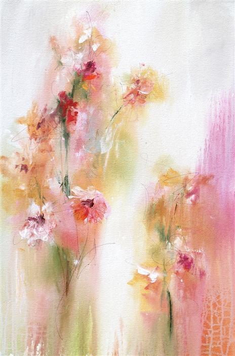 Original art for sale at UGallery.com | The Joy of Spring by Karen Hale | $1,650 | acrylic painting | 30' h x 20' w | ..\art\acrylic-painting-The-Joy-of-Spring