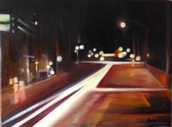 Architecture art,Impressionism art,Travel art,Representational art,oil painting,One of Those Nights