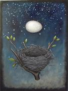Animals art,Surrealism art,Representational art,mixed media artwork,The Nest that Sailed the Sky