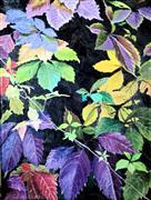 Nature art,Representational art,acrylic painting,Technicolor Trumpet Vines