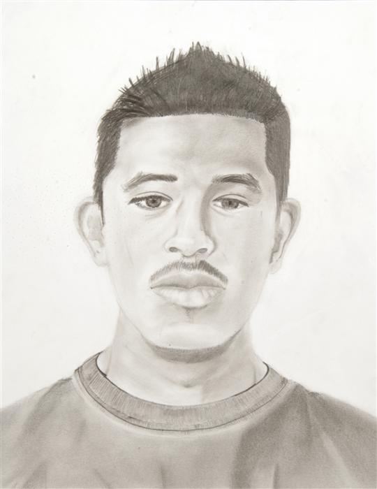 Original art for sale at UGallery.com | Self Portrait (Jose Flores) by BOYS & GIRLS CLUBS OF SAN FRANCISCO | $100 | Pencil drawing | 14' h x 11' w | ..\art\pencil-drawing-Self-Portrait-Jose-Flores