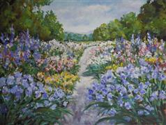 Landscape art,Flora art,Representational art,acrylic painting,Blue Green
