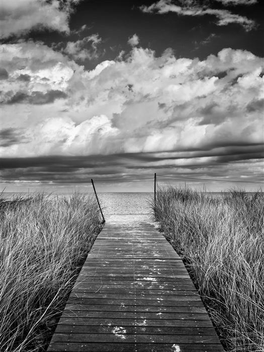 Original art for sale at UGallery.com | Oak Bluffs Beach Path by Katherine Gendreau | $25 | photography | 40' h x 30' w | ..\art\photography-Oak-Bluffs-Beach-Path