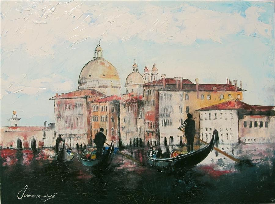 Original art for sale at UGallery.com | Old Venice by NEDIM OMERCAUSEVIC | $725 | Oil painting | 18' h x 24' w | ..\art\oil-painting-Old-Venice