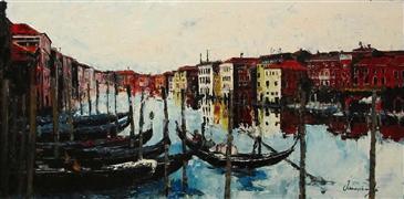Architecture art,Impressionism art,Travel art,Representational art,oil painting,Endless Venice