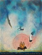 Pop art,Seascape art,Representational art,Vintage art,mixed media artwork,Sea Spell