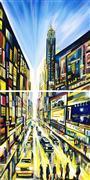 Architecture art,Pop art,Travel art,Representational art,acrylic painting,Urban Angles I