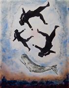 People art,Pop art,Surrealism art,Representational art,mixed media artwork,A Whale's Dream