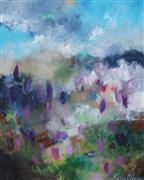 Abstract art,Expressionism art,Landscape art,Flora art,Representational art,acrylic painting,Crocus Fields