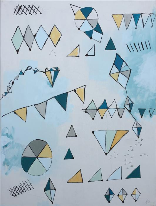 Original art for sale at UGallery.com   Geometric 3 by AMY EARLY   $925   Acrylic painting   24' h x 18' w   https://www.ugallery.com/ProductDetail.aspx?ProductID=38438